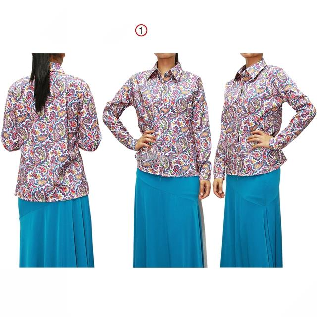 13357 Long Sleeve Shirt with Paisley Print