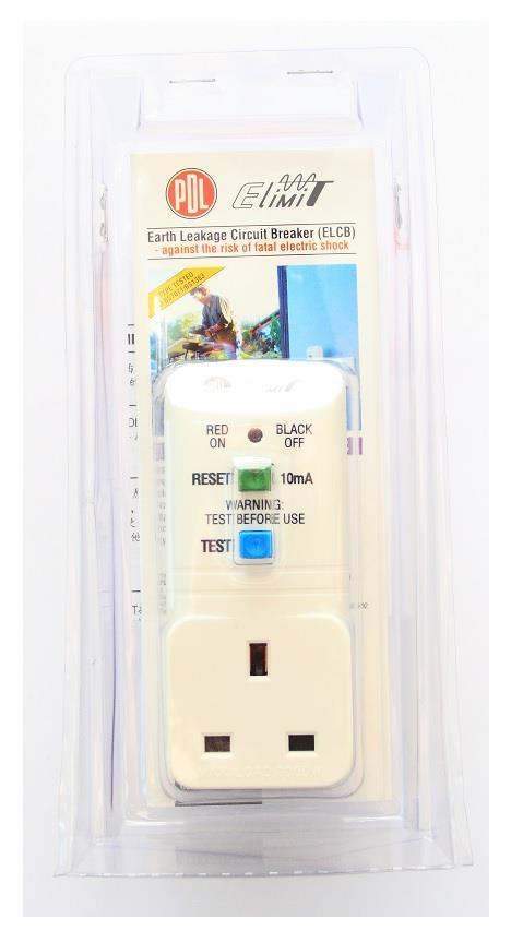 13A Plug-in RCD ELCB Adaptor