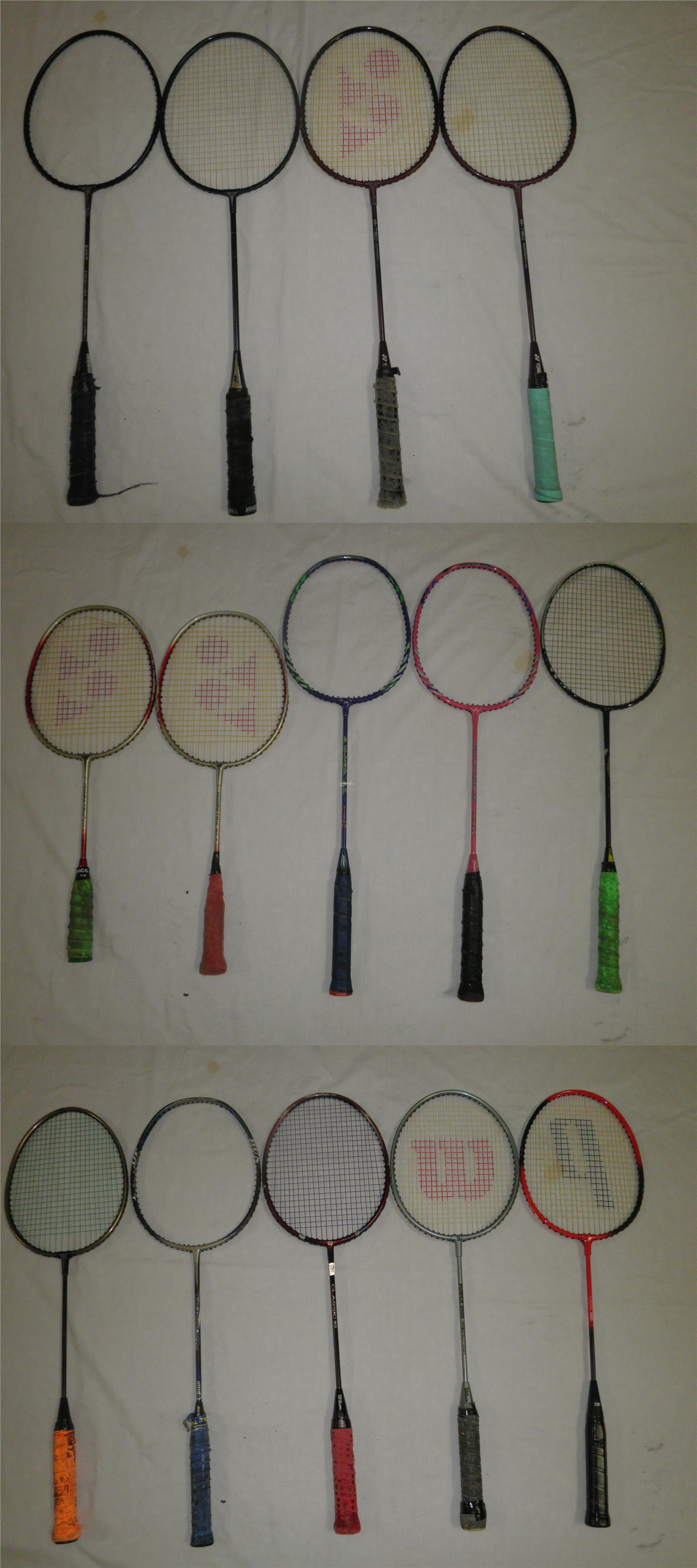 14 Badminton Rackets for Auction