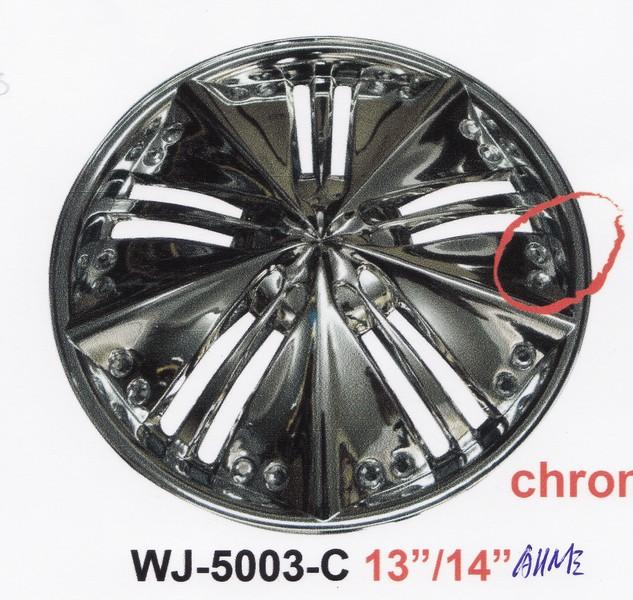"14"" inch Chrome with Diamond Sport RIm Cap / Wheels Cover Set"