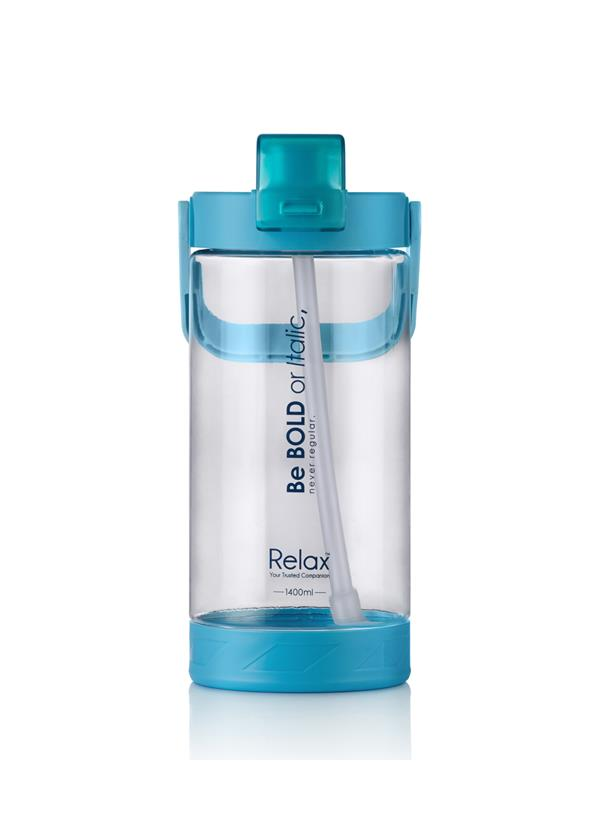 1400ml Relax Tritan Water Bottle with Straw - D7214