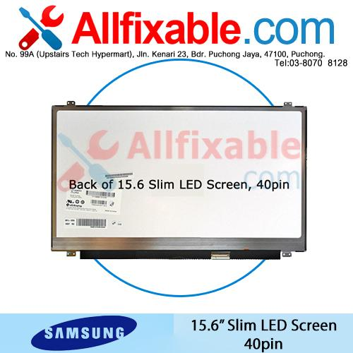 "15.6"" Slim LED LCD (40pin) Screen For Samsung NP-510"