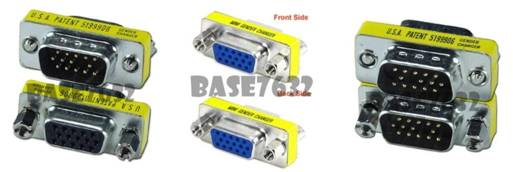 15 pin VGA Gender Changer Female to Male Male to Male  Adapter