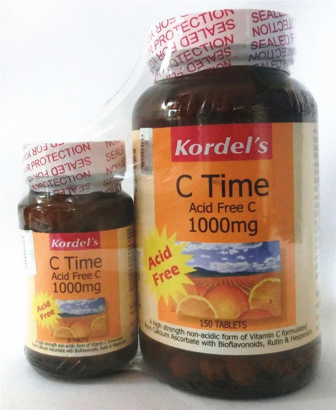 150's+30's Kordel's C Time Acid Free C-1000mg