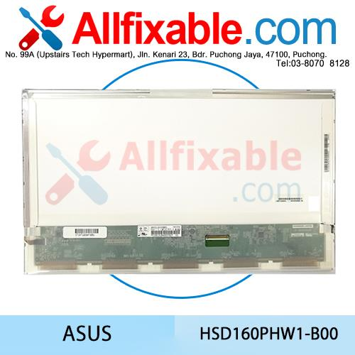 16.0 Slim LED Laptop Screen Asus S56CB G60VX G60JX HSD160PHW1-B00