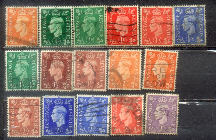 16 Great Britain Nice Old Stamps Lot 1