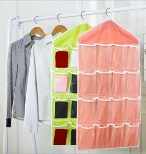 16 Grid Wardrobe Panties Socks Storage Hanging Bag