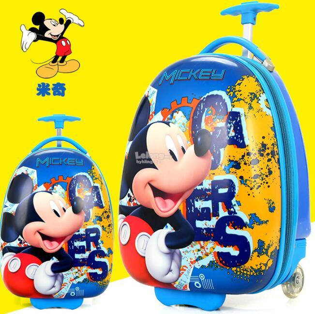 16 Inch Cartoon Mickey Travel Luggage for Children ABS Rolling Bag