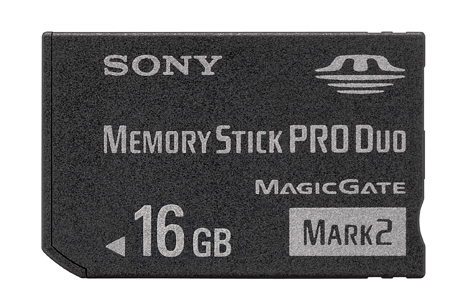 16GB MEMORY STICK PRO DUO MARK 2 MEMORY CARD FOR PSP