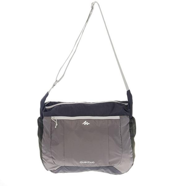 16L Lightweight Foldtable Sporty Travel Shoulder Crossbody Bag (grey)