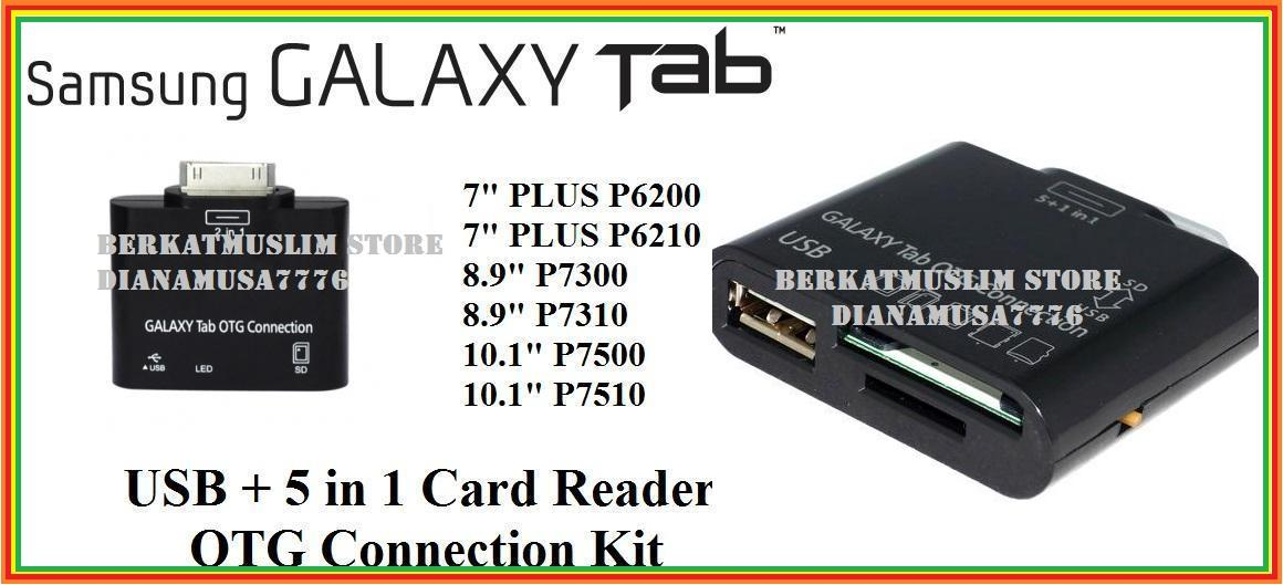 18/9/12***Samsung Galaxy Tab 5in1 USB OTG Card Reader FOR TAB 2 7.0 Pl..