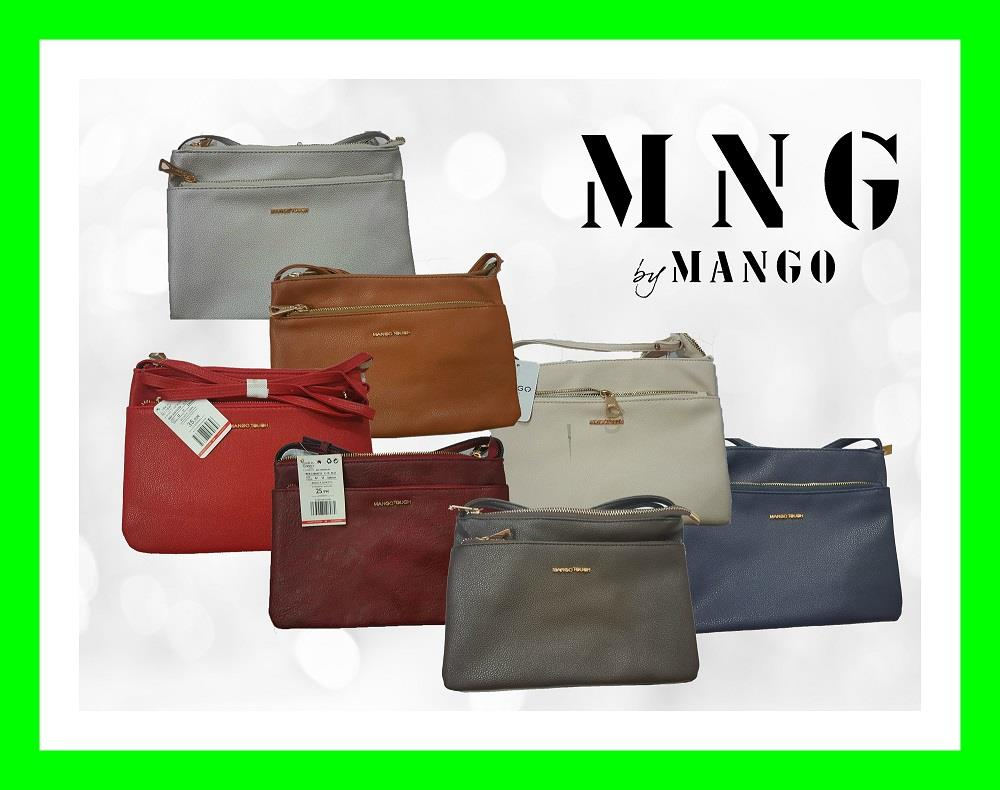 18.99 ONLY MNG Mango Protable Double Zip Zipper Tote Sling Handbag Bag