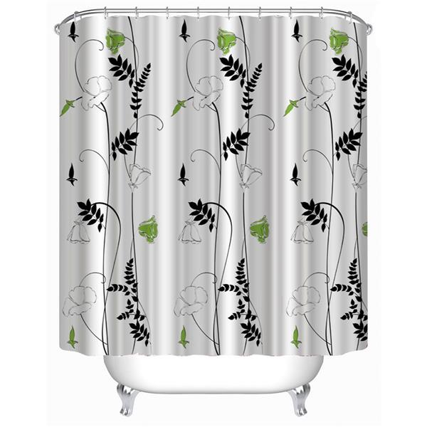 "180*180cm Morning-glory Flower Pattern Shower Curtain Size 71""*71"""