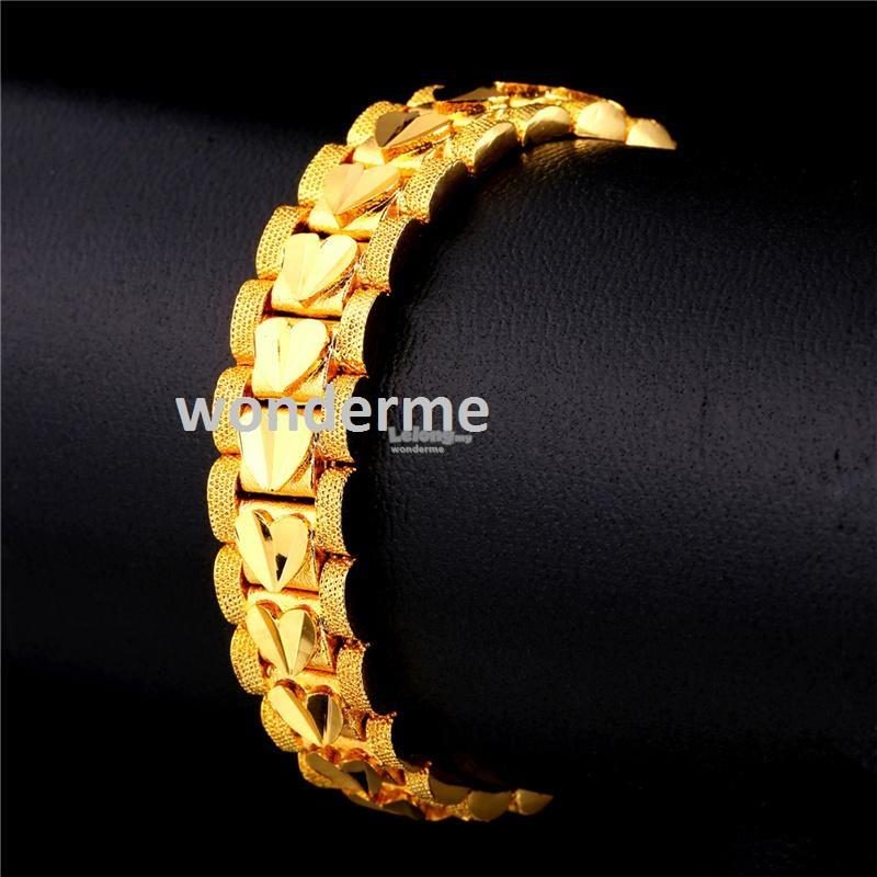 18K Real Gold Plated Heart Bracelets for Love Ones
