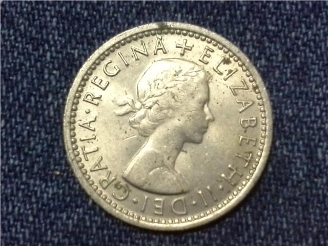1964 GREAT BRITAIN QEII SIX PENCE COIN