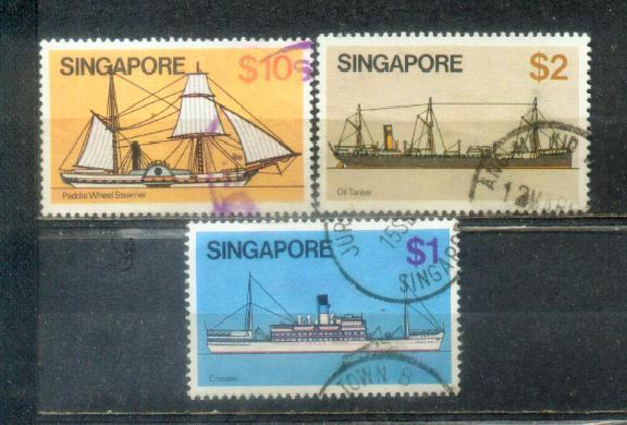 1980 Singapore 3 HV Stamps