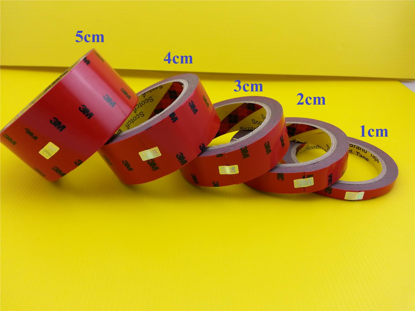 1cm/2cm/3cm/4cm/5cm 3M Double Sided Tape Adhesive Sticker Glue.
