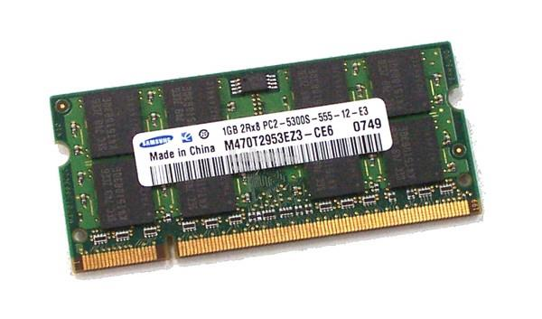 1GB PC2 DDR2 PC2-5300 SODIMM NOTEBOOK RAM – (SAMSUNG/NANYA)
