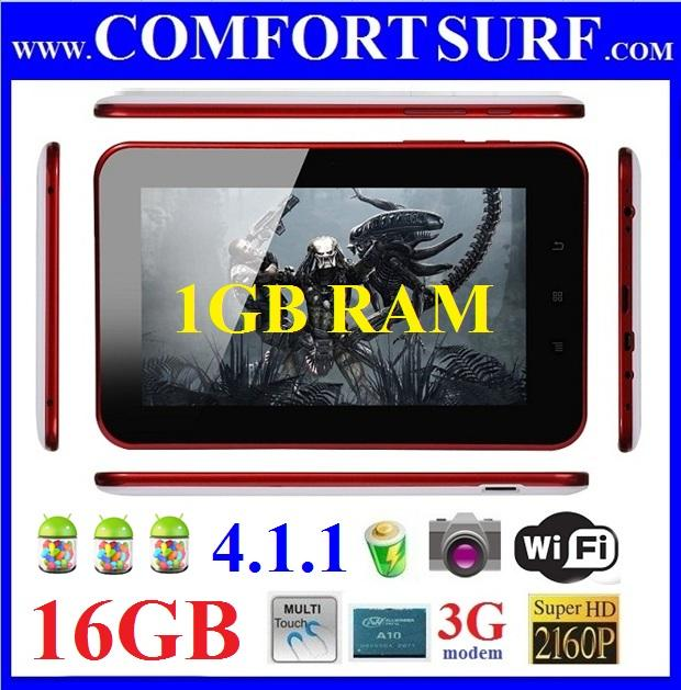 NEW 1GB RAM + 16GB Netpad A11 ANDROID 4.1.1 Tablet PC Boxchip A13 Nautica