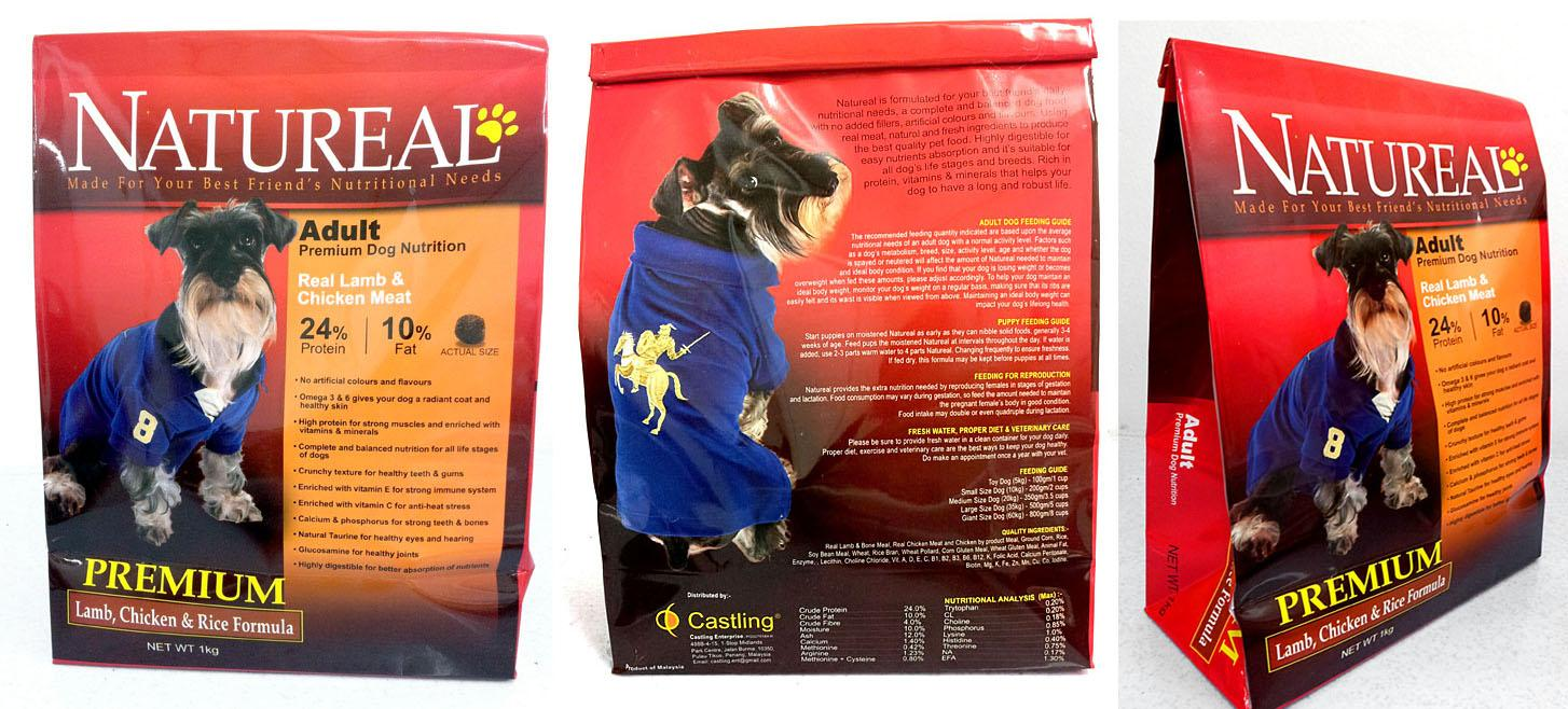 1KG NATUREAL ADULT PREMIUM DOG FOOD - LAMB, CHICKEN & RICE