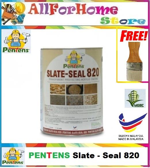 1L Pentens® 820 Transparent,Anti-stain Waterproofing Paint Slate-seal