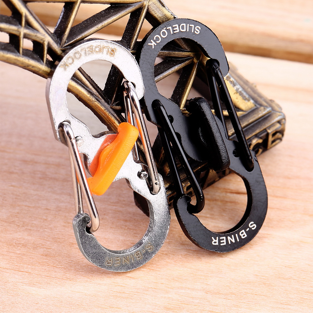 1pc 8 Shape Camping Hiking Outdoor Mountaineer Buckle Hanging Hook Cli..