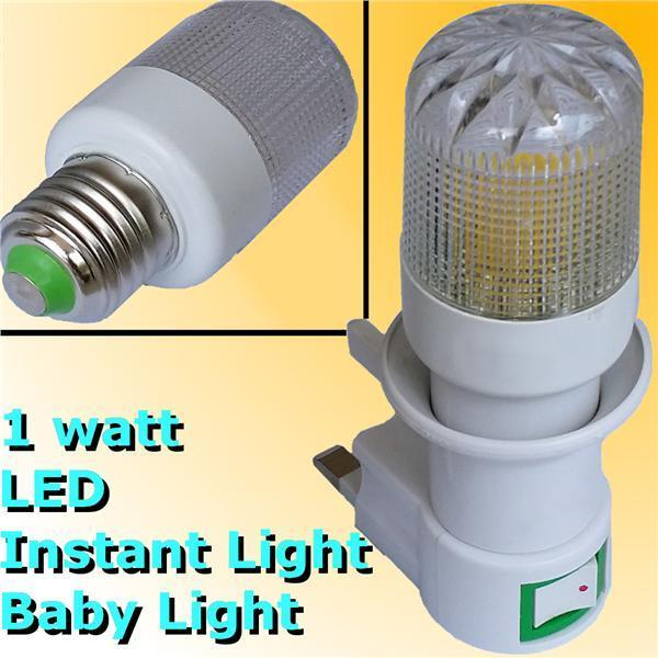 1w LED Baby Lamp E27 240V 13A Socket Instant Light