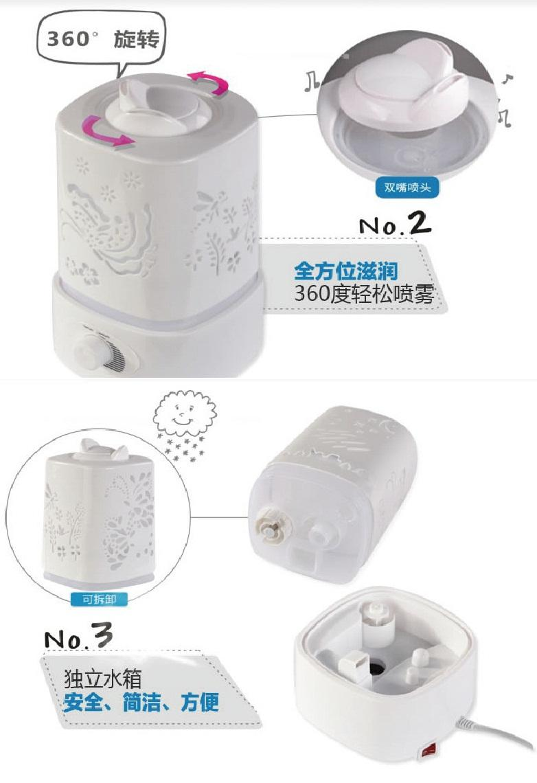 2 0l ultrasonic air humidifier air purifier withled light zps 01a ebay - Humidifier l air naturellement ...
