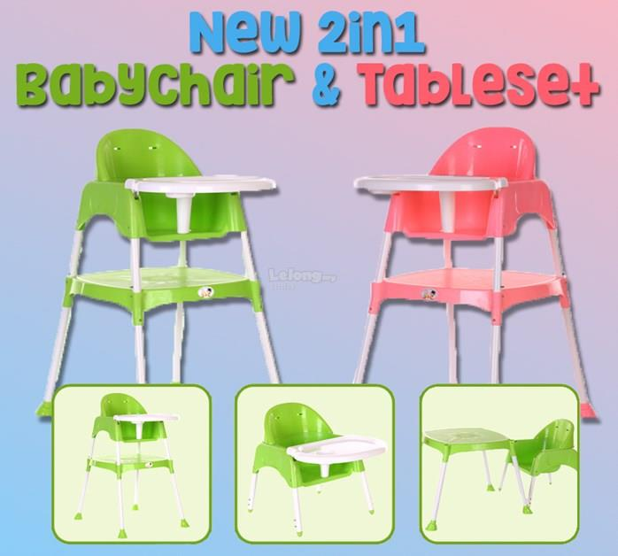 2 IN 1 BABYCHAIR & TABLESET