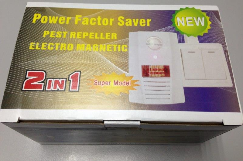 2 IN 1 Electricity Saver + Ultrasonic Indoor Pest Repeller