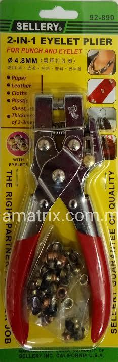 2-In-1 Eyelet Plier for Punch & Eyelet SELLERY 92-890