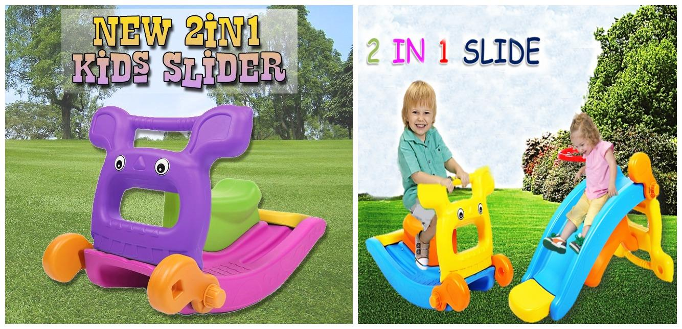 2 in 1 kids slider