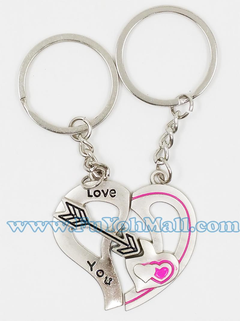 2 become 1 LOVE Heart Lover Key Chain 1 set / 1 pair