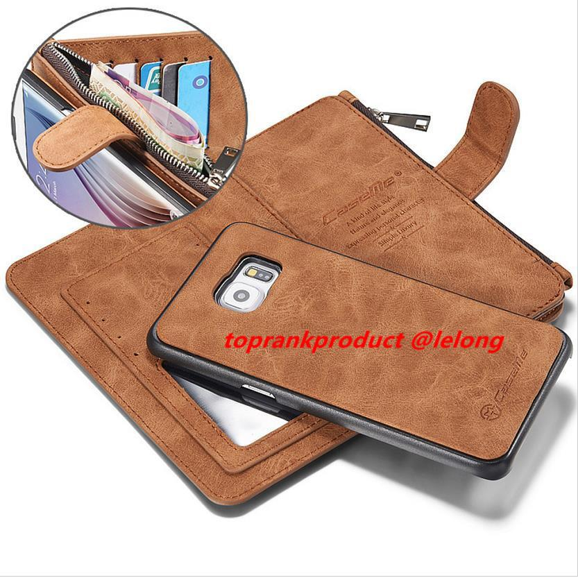 2 in 1 Samsung Galaxy S6 Edge Plus Card Slot Wallet Clips Case Cover