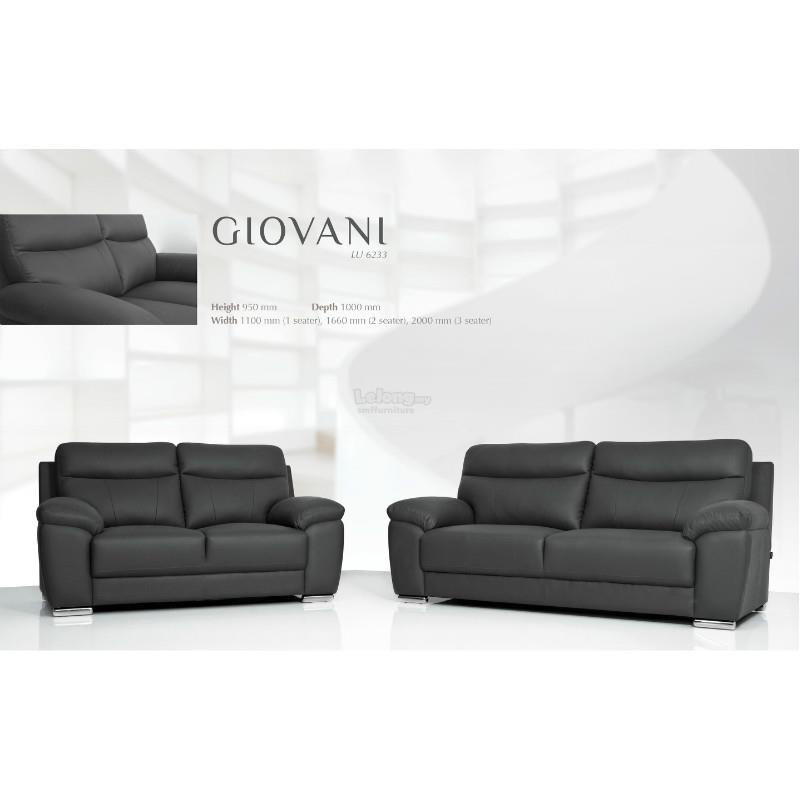 2+3 Giovani Rubica Leather Sofa