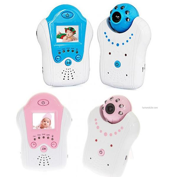 2.4GHz Wireless IR Camera Portable 1.5 Inch LCD Video Baby Monitor
