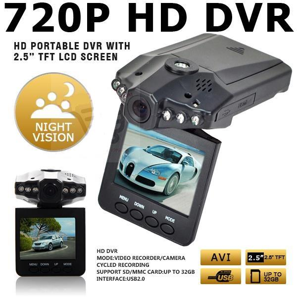 2.5 HD Car 720P DVR Road Video Camera Recorder Camcorder LCD 270°