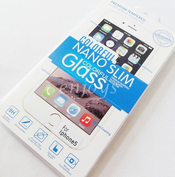 2.5D 9H SLIM Tempered Glass LCD Screen Protector Apple iPhone 5 5S