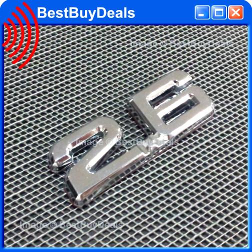2.6 2600cc 2.6L italic 3D Chrome Car Badge Decal Emblem Trunk Side Log