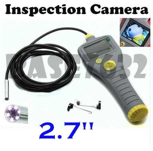 "2.7""  Snake Inspection Pin Hole Spy Snake Camera w/ LCD Monitor"