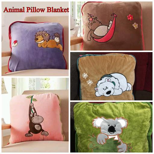 Plush Animal Pillow Blanket : 2 in1 multi-function plush blanket (end 11/26/2017 12:29 PM)