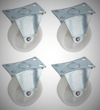 "2"" NYLON CASTER (RIGID) 4PCS/SET"