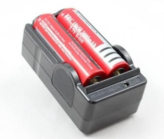 2 pcs 18650 Batteries & Battery Charger.