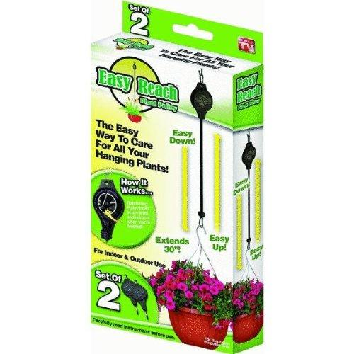 2 Pcs Easy Reach Plant Pulley Hook Light Flowerpot Hanger Height-adjus