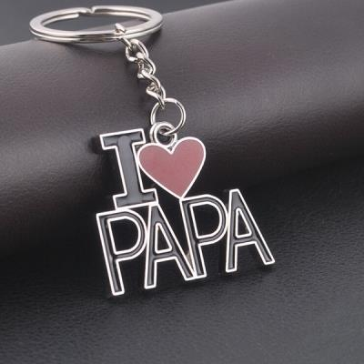 2 Pcs Gifts For Father's/Mother's Day Gifts Stylish Silver Key Chain