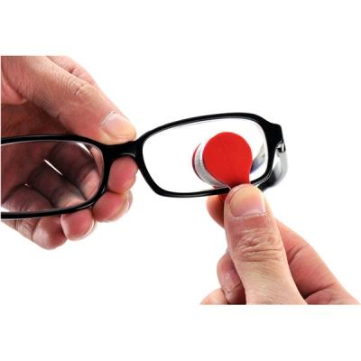 2 Pcs Mini Sun Glasses Eyeglass Microfiber Brush Cleaner -Color Random