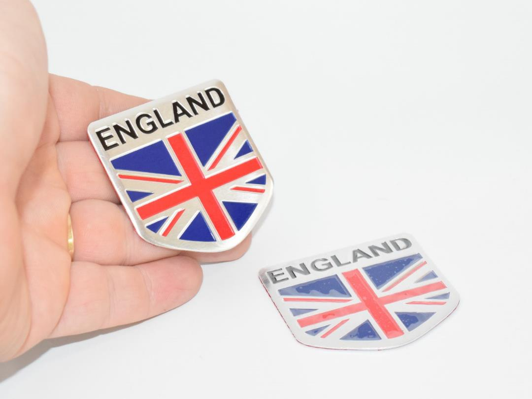 2 Pcs UK England Great Britain Union Jack 5Cm License Plate  WKC-QBH