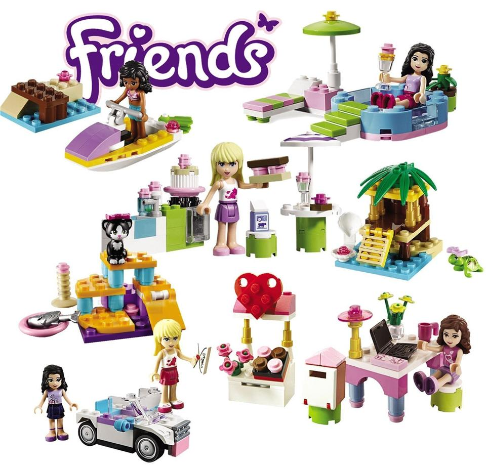 2 Sets Friends Building Block Emma Swimming & Kate Watermotor No Box