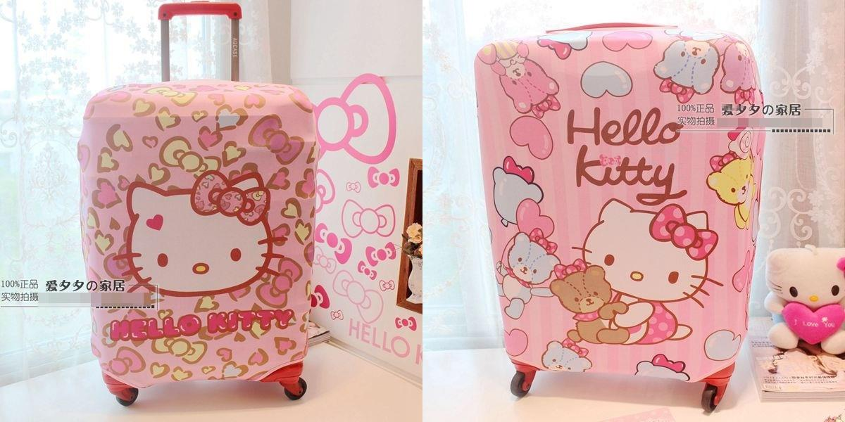 2 Type Cute Kitty Luggage Stretchable Protector For Size 20-24 Inch