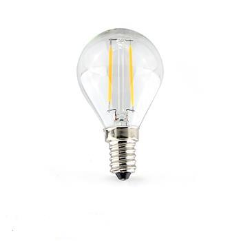 2 Watt E14 Filament Golf Ball LED Bulb